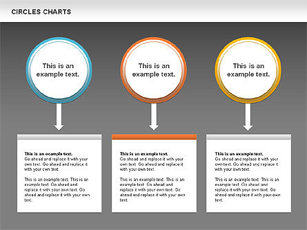 Charts with Circles, Slide 13, 00756, Shapes — PoweredTemplate.com