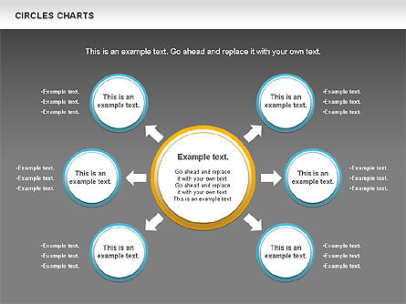 Charts with Circles, Slide 14, 00756, Shapes — PoweredTemplate.com
