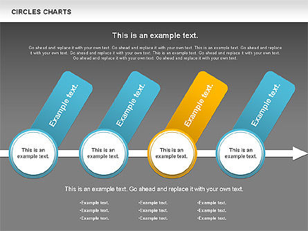 Charts with Circles, Slide 15, 00756, Shapes — PoweredTemplate.com
