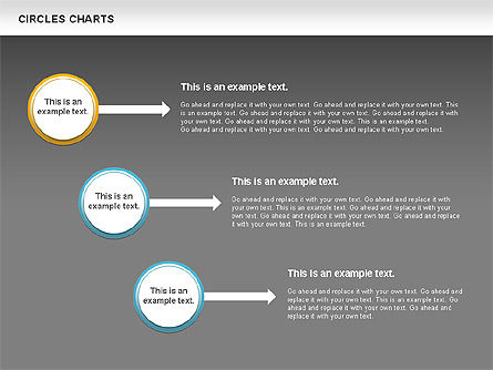 Charts with Circles, Slide 16, 00756, Shapes — PoweredTemplate.com