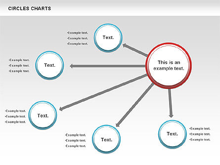 Charts with Circles, Slide 2, 00756, Shapes — PoweredTemplate.com