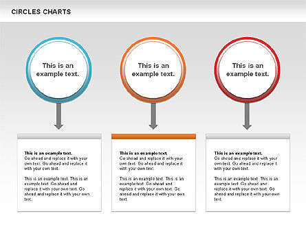 Charts with Circles, Slide 3, 00756, Shapes — PoweredTemplate.com