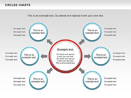 Charts with Circles, Slide 4, 00756, Shapes — PoweredTemplate.com