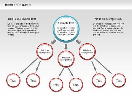 Charts with Circles, Slide 5, 00756, Shapes — PoweredTemplate.com