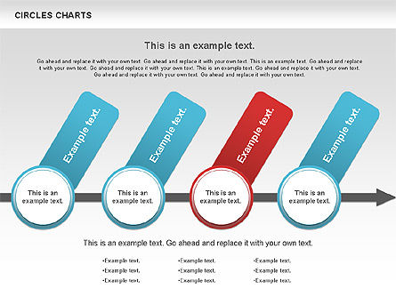 Charts with Circles, Slide 6, 00756, Shapes — PoweredTemplate.com