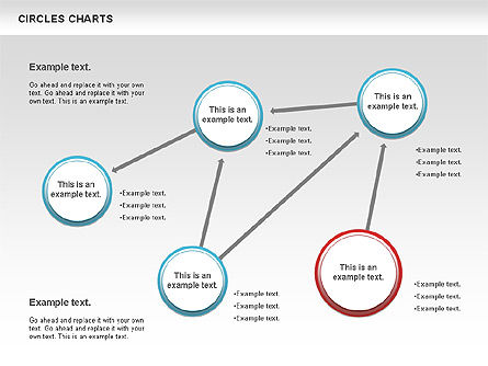 Charts with Circles, Slide 8, 00756, Shapes — PoweredTemplate.com