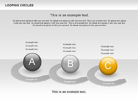 Looping Circles, Slide 10, 00757, Business Models — PoweredTemplate.com
