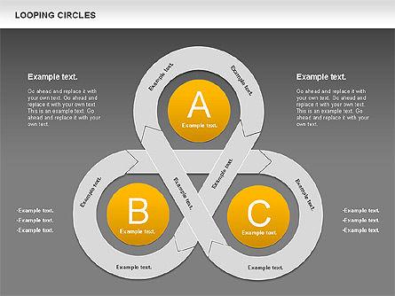 Looping Circles, Slide 12, 00757, Business Models — PoweredTemplate.com