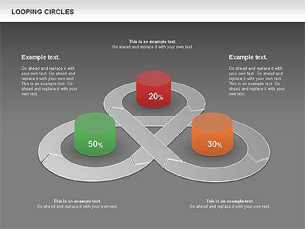 Looping Circles, Slide 13, 00757, Business Models — PoweredTemplate.com