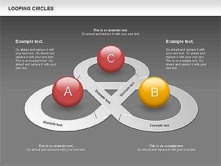 Looping Circles, Slide 14, 00757, Business Models — PoweredTemplate.com