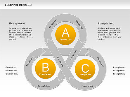 Looping Circles, Slide 2, 00757, Business Models — PoweredTemplate.com