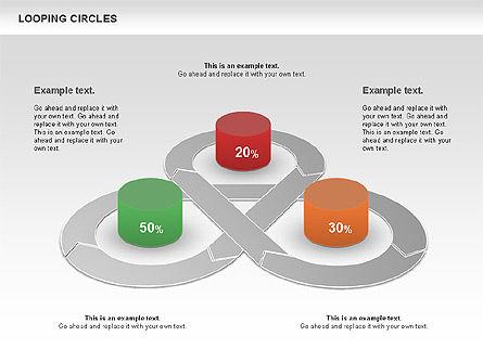 Looping Circles, Slide 3, 00757, Business Models — PoweredTemplate.com