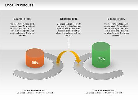 Looping Circles, Slide 5, 00757, Business Models — PoweredTemplate.com