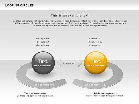 Looping Circles, Slide 7, 00757, Business Models — PoweredTemplate.com