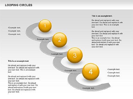 Looping Circles, Slide 8, 00757, Business Models — PoweredTemplate.com