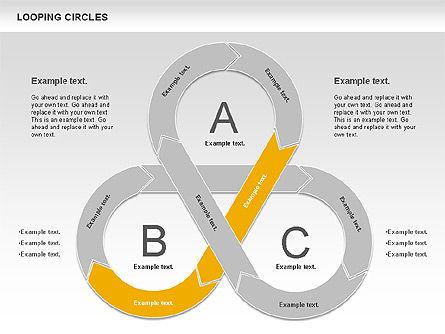 Looping Circles, Slide 9, 00757, Business Models — PoweredTemplate.com