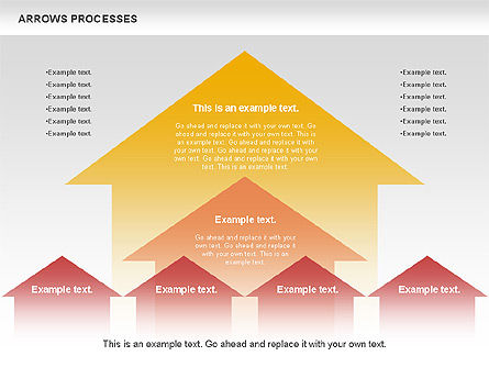 Arrows Processes, 00758, Process Diagrams — PoweredTemplate.com