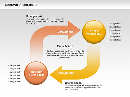 Arrows Processes, Slide 2, 00758, Process Diagrams — PoweredTemplate.com