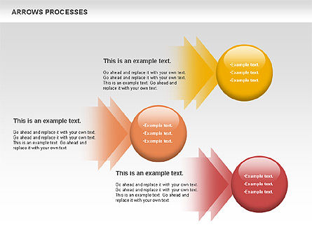 Arrows Processes, Slide 4, 00758, Process Diagrams — PoweredTemplate.com