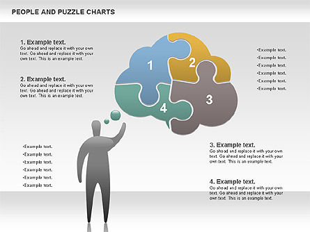 People and Puzzles, 00759, Puzzle Diagrams — PoweredTemplate.com