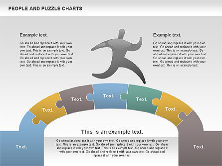 People and Puzzles, Slide 2, 00759, Puzzle Diagrams — PoweredTemplate.com