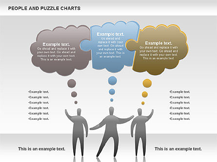 people and puzzles, slide 3, 00759, puzzle diagrams — poweredtemplate com