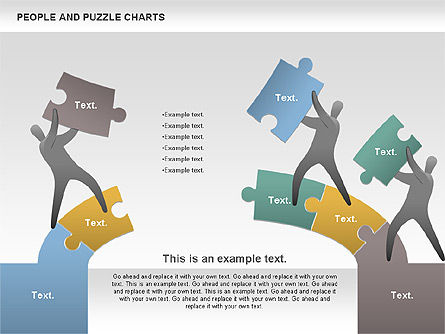 People and Puzzles, Slide 4, 00759, Puzzle Diagrams — PoweredTemplate.com