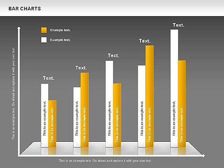 Bar Charts Collection, Slide 12, 00760, Business Models — PoweredTemplate.com