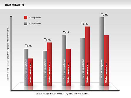 Bar Charts Collection, Slide 2, 00760, Business Models — PoweredTemplate.com