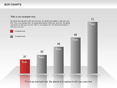Bar Charts Collection, Slide 3, 00760, Business Models — PoweredTemplate.com