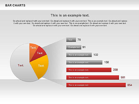 Bar Charts Collection, Slide 8, 00760, Business Models — PoweredTemplate.com