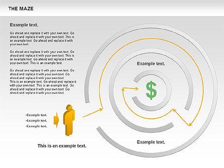 Maze Diagram, Slide 10, 00761, Business Models — PoweredTemplate.com