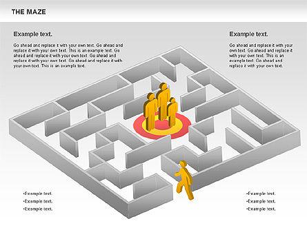 Maze Diagram, Slide 11, 00761, Business Models — PoweredTemplate.com