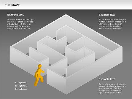 Maze Diagram, Slide 12, 00761, Business Models — PoweredTemplate.com
