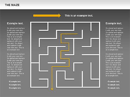 Maze Diagram, Slide 13, 00761, Business Models — PoweredTemplate.com