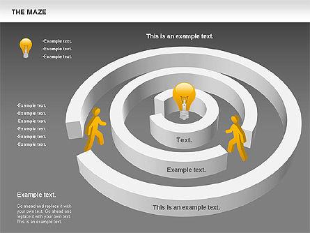 Maze Diagram, Slide 14, 00761, Business Models — PoweredTemplate.com