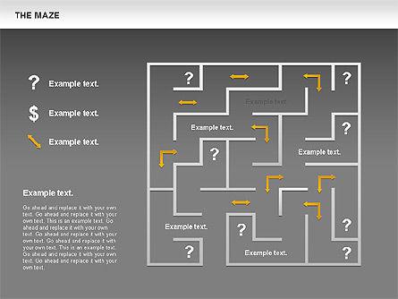 Maze Diagram, Slide 15, 00761, Business Models — PoweredTemplate.com