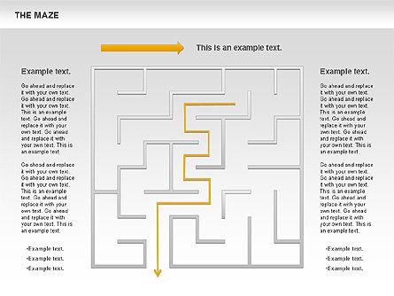 Maze Diagram, Slide 2, 00761, Business Models — PoweredTemplate.com
