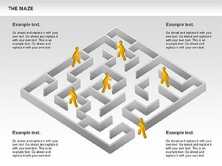 Maze Diagram, Slide 3, 00761, Business Models — PoweredTemplate.com