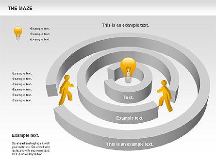 Maze Diagram, Slide 4, 00761, Business Models — PoweredTemplate.com