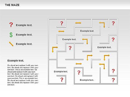 Maze Diagram, Slide 5, 00761, Business Models — PoweredTemplate.com