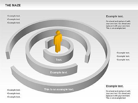 Maze Diagram, Slide 6, 00761, Business Models — PoweredTemplate.com