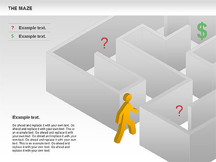Maze Diagram, Slide 7, 00761, Business Models — PoweredTemplate.com