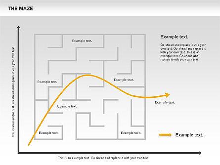 Maze Diagram, Slide 8, 00761, Business Models — PoweredTemplate.com
