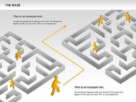 Maze Diagram, Slide 9, 00761, Business Models — PoweredTemplate.com