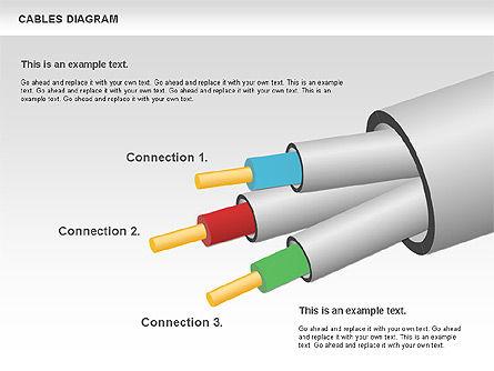 Cable Diagram, Slide 11, 00762, Stage Diagrams — PoweredTemplate.com