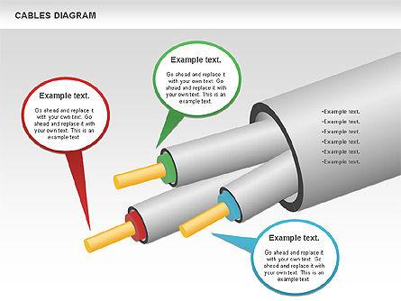 Cable Diagram, Slide 13, 00762, Stage Diagrams — PoweredTemplate.com