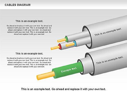 Cable Diagram, Slide 14, 00762, Stage Diagrams — PoweredTemplate.com
