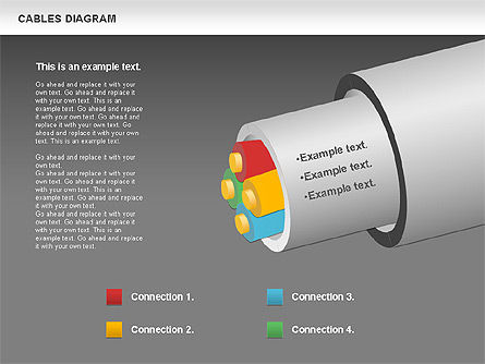 Cable Diagram, Slide 16, 00762, Stage Diagrams — PoweredTemplate.com
