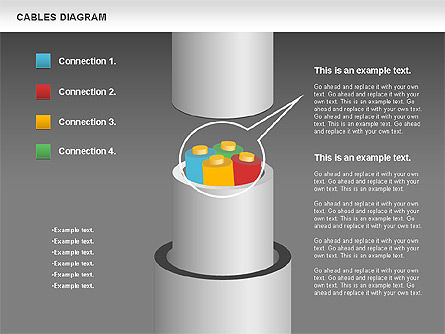 Cable Diagram, Slide 19, 00762, Stage Diagrams — PoweredTemplate.com